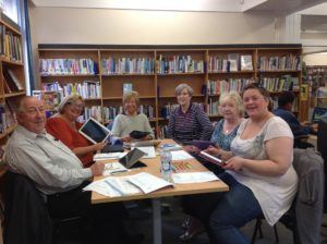 Group of Lead learners from our Perth & Kinross project learning how to use an iPad